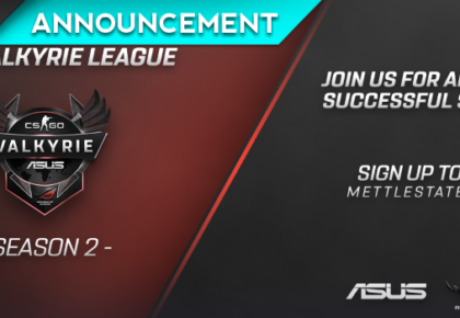 Mettlestate announce Season 2 of the ROG Valkyrie CS:GO League