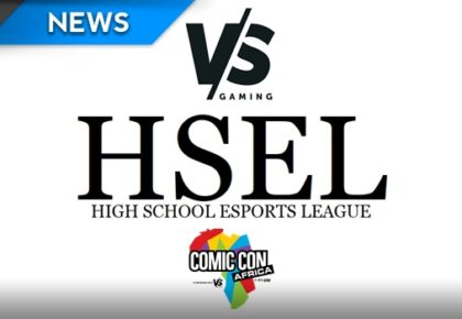 High School Esports League finals at Comic Con Africa