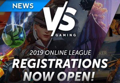 VS Gaming registrations now open for 2019 season