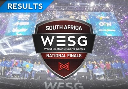 The WESG South African qualifier results