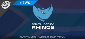 The South African Rhinos are on their way to the Overwatch World Cup