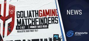 Goliath Gaming Fortnite Matchfinders on ACGL
